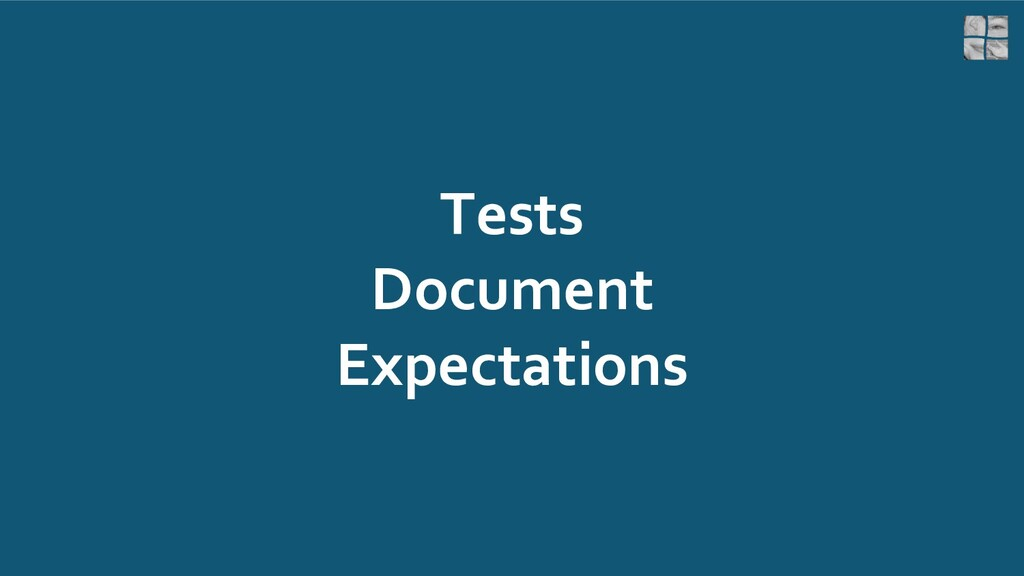 Tests Document Expectations