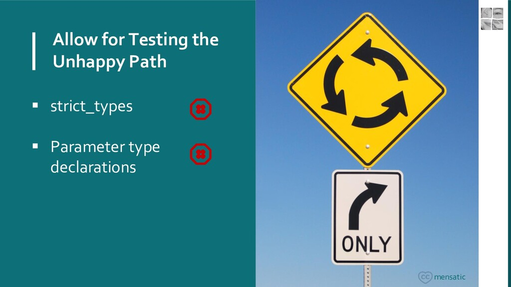 Allow for Testing the Unhappy Path ▪ strict_typ...