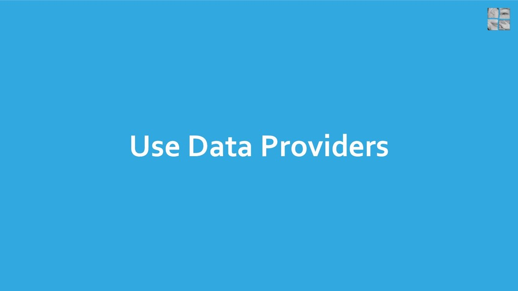 Use Data Providers