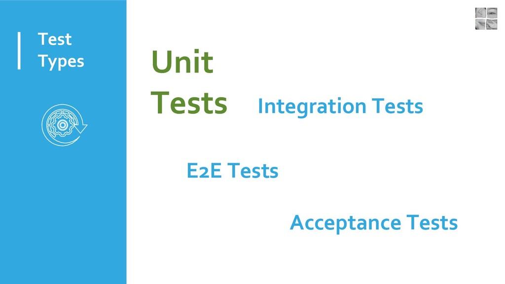 Test Types Unit Tests Integration Tests E2E Tes...