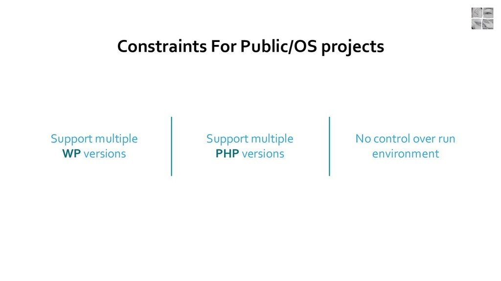 Constraints For Public/OS projects Support mult...
