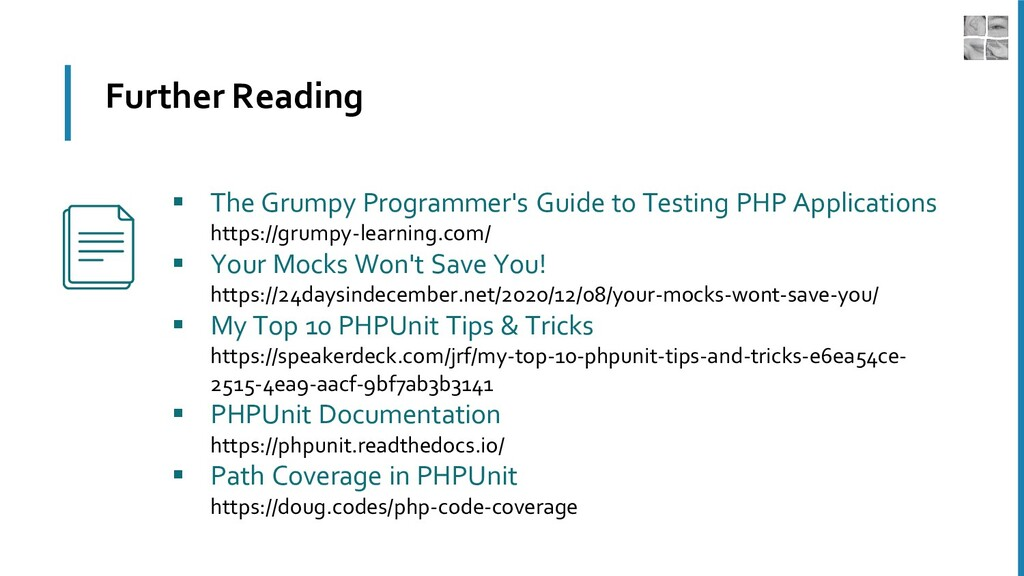 Further Reading ▪ The Grumpy Programmer's Guide...
