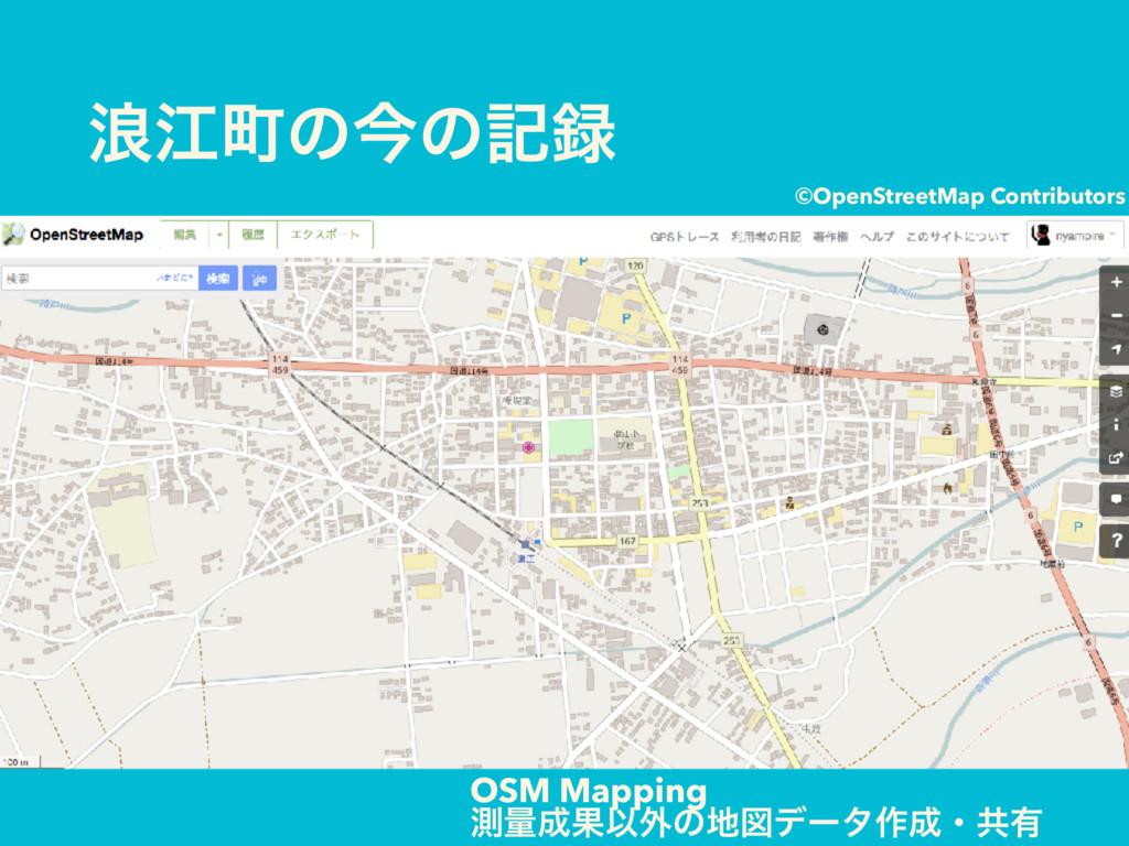 ࿘ߐொͷࠓͷه OSM Mapping ଌྔՌҎ֎ͷਤσʔλ࡞ɾڞ༗ ©OpenStr...