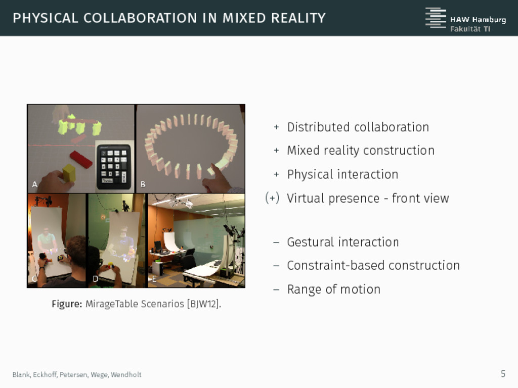physical collaboration in mixed reality Figure:...