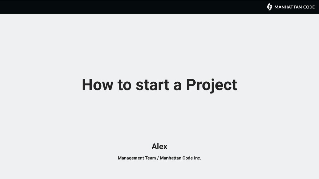 How to start a Project Management Team / Manhat...