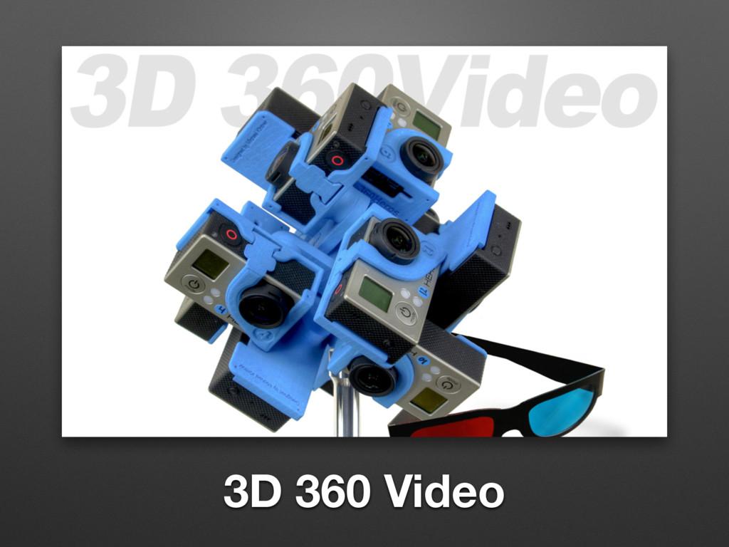 3D 360 Video