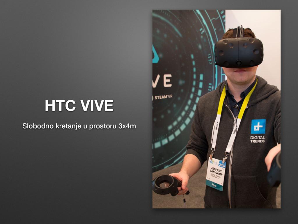 HTC VIVE Slobodno kretanje u prostoru 3x4m