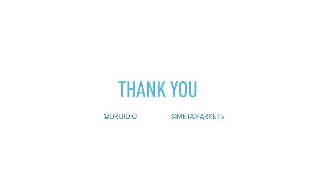 THANK YOU @DRUIDIO @METAMARKETS