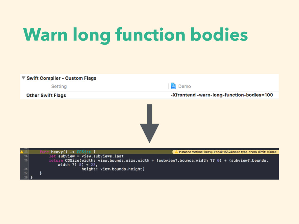 Warn long function bodies