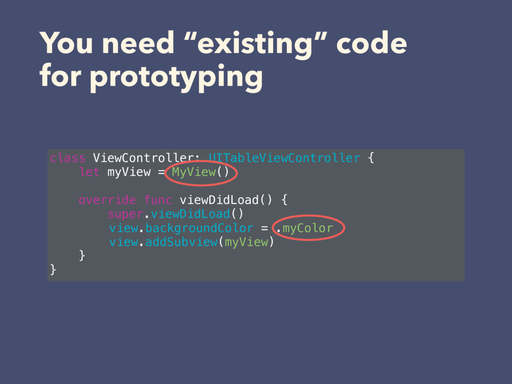 "You need ""existing"" code 