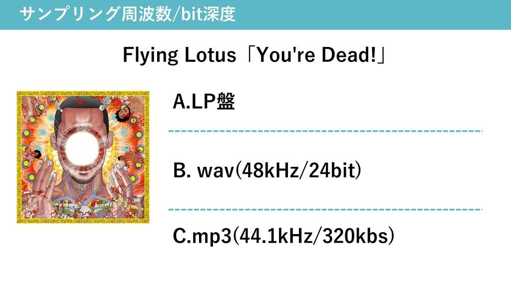 サンプリング周波数/bit深度 Flying Lotus「You're Dead!」 A.LP...