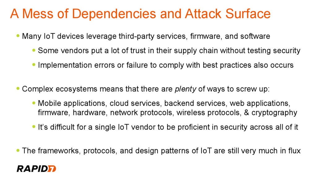 A Mess of Dependencies and Attack Surface • Man...