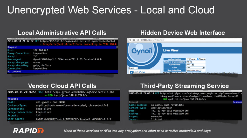 Unencrypted Web Services - Local and Cloud Loca...
