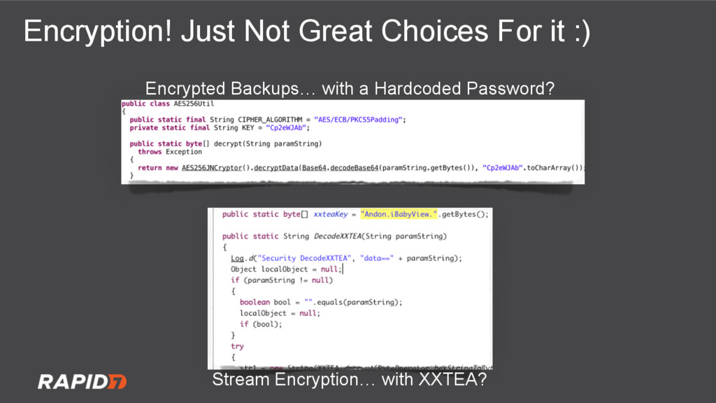 Encryption! Just Not Great Choices For it :) St...