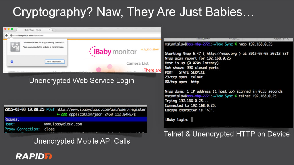 Cryptography? Naw, They Are Just Babies… Unencr...