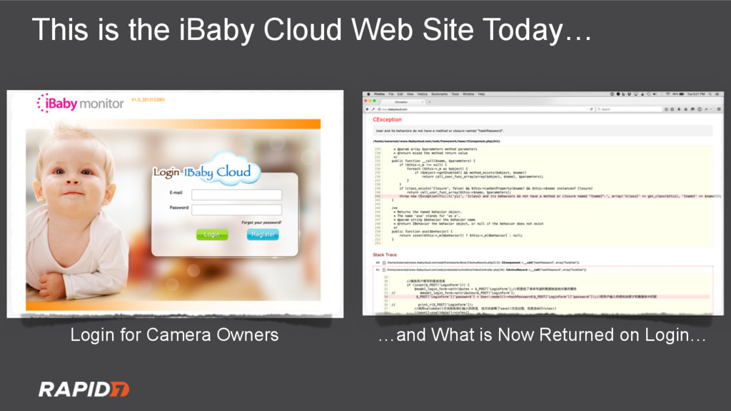 This is the iBaby Cloud Web Site Today… Login f...