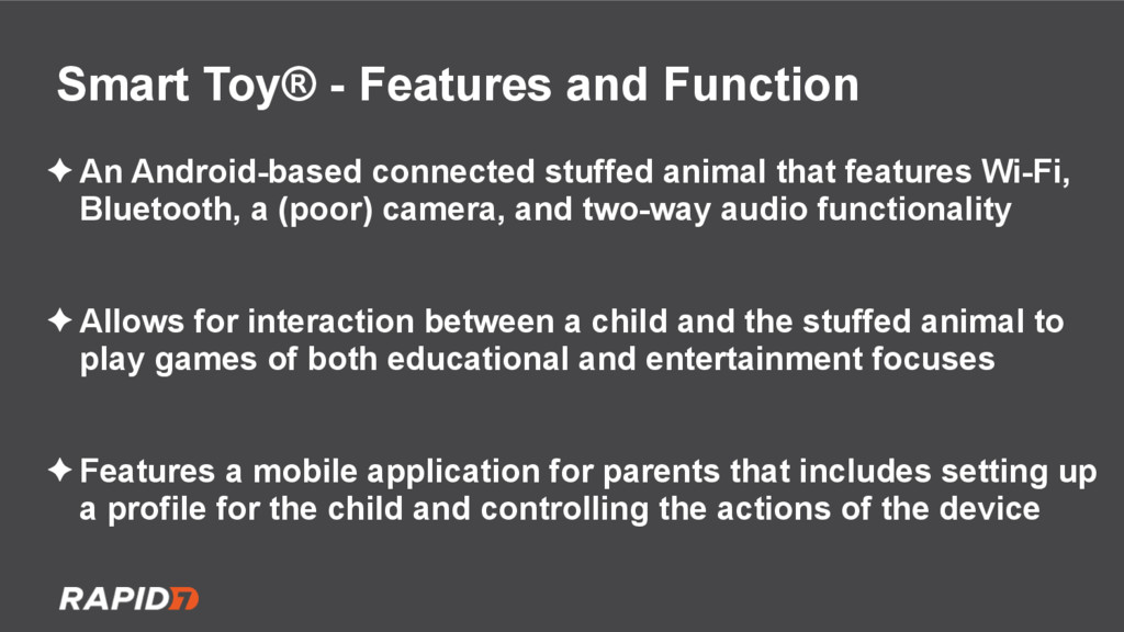 Smart Toy® - Features and Function ✦ An Android...