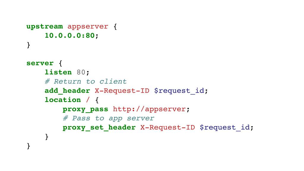 upstream appserver { 10.0.0.0:80; } server { li...