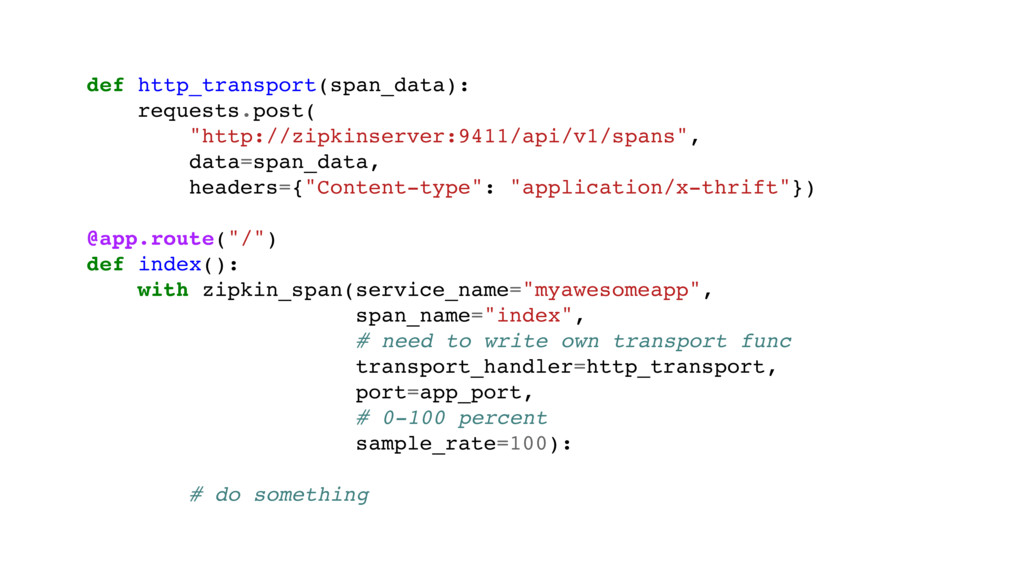 """def http_transport(span_data): requests.post( """"..."""