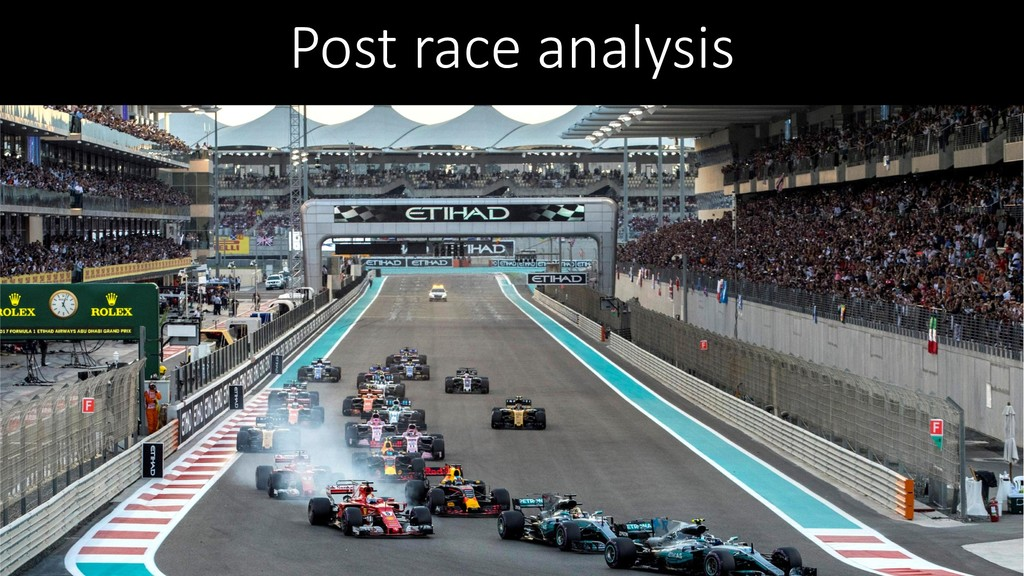 Post race analysis