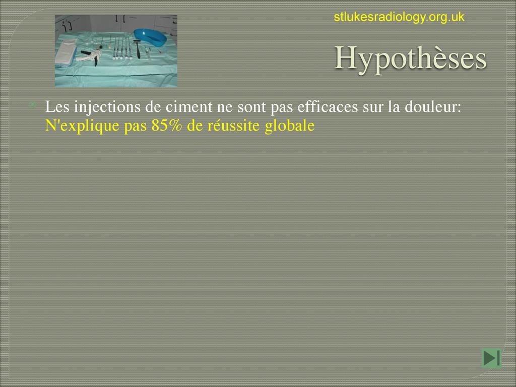 stlukesradiology.org.uk Hypothèses ⦿ Les inject...