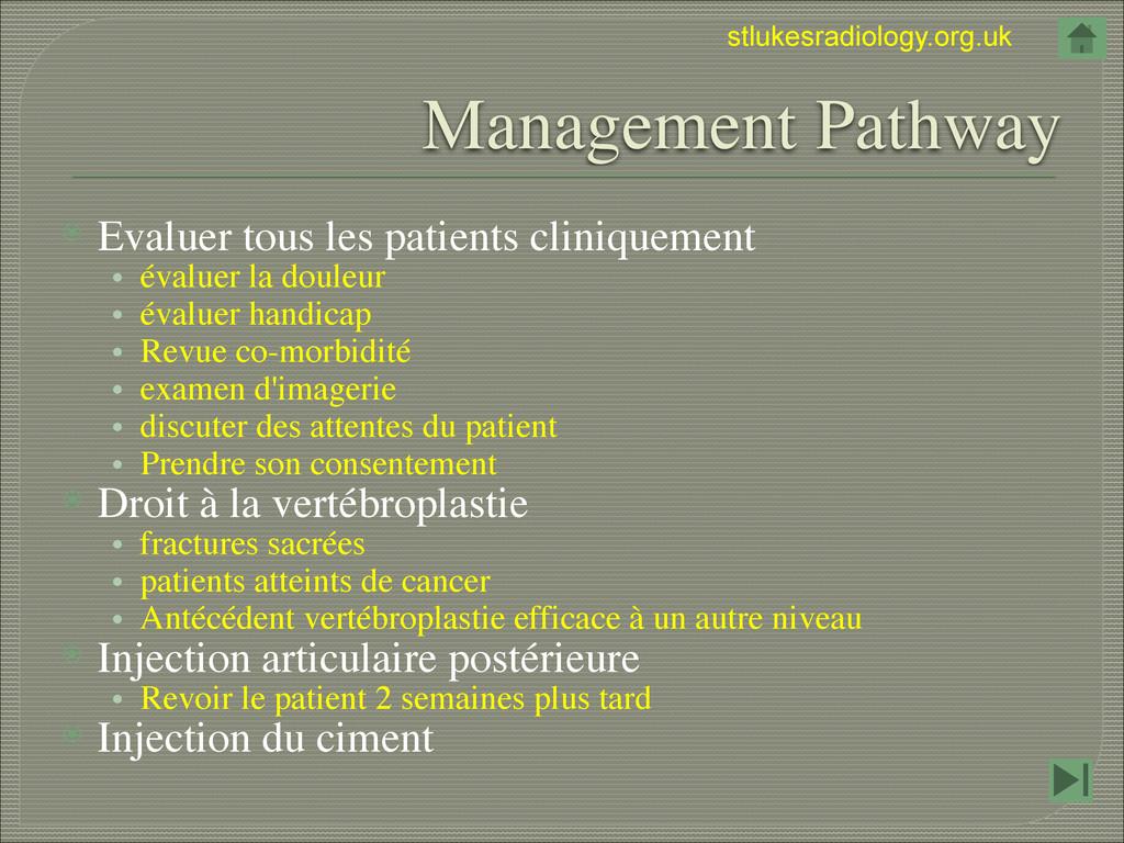 stlukesradiology.org.uk Management Pathway ⦿ Ev...