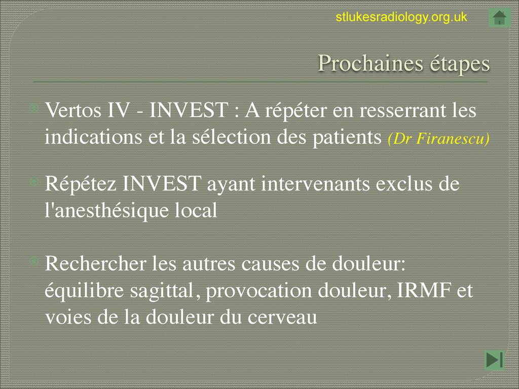 stlukesradiology.org.uk  Prochaines étapes ⦿ V...