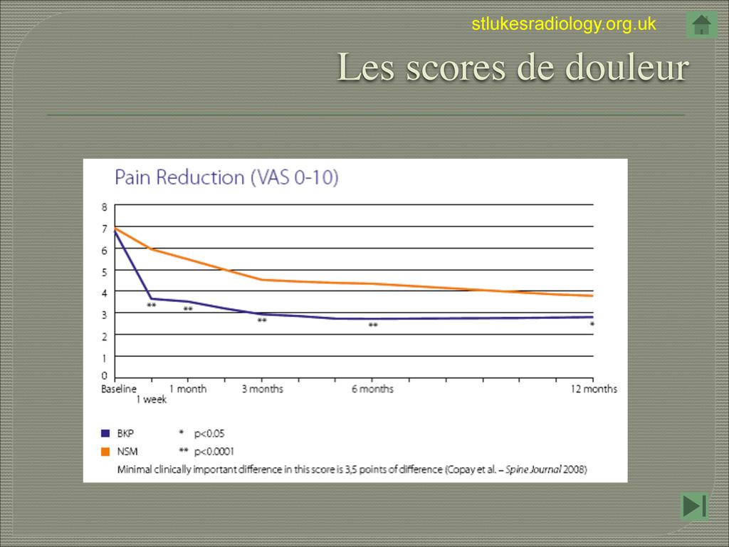 stlukesradiology.org.uk Les scores de douleur