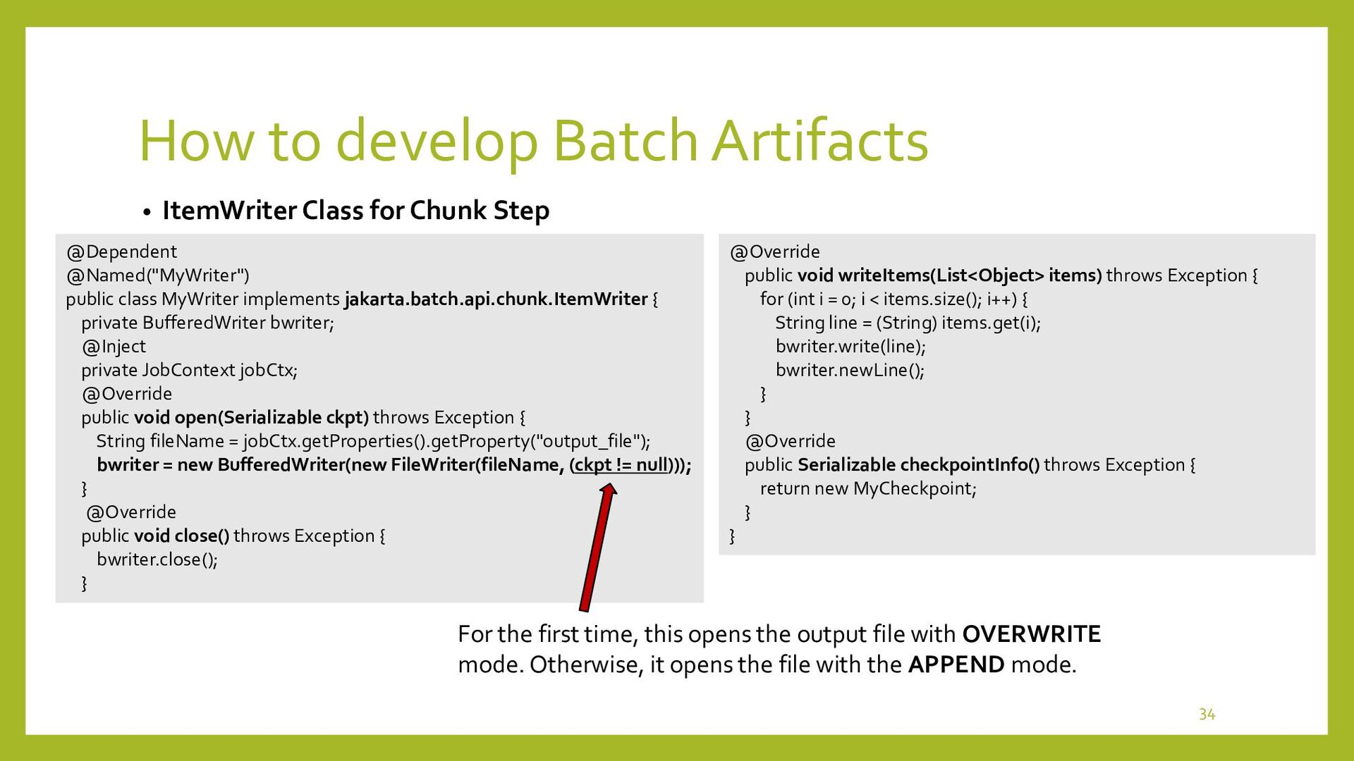 How to develop Batch Artifacts • Batchlet in Ta...