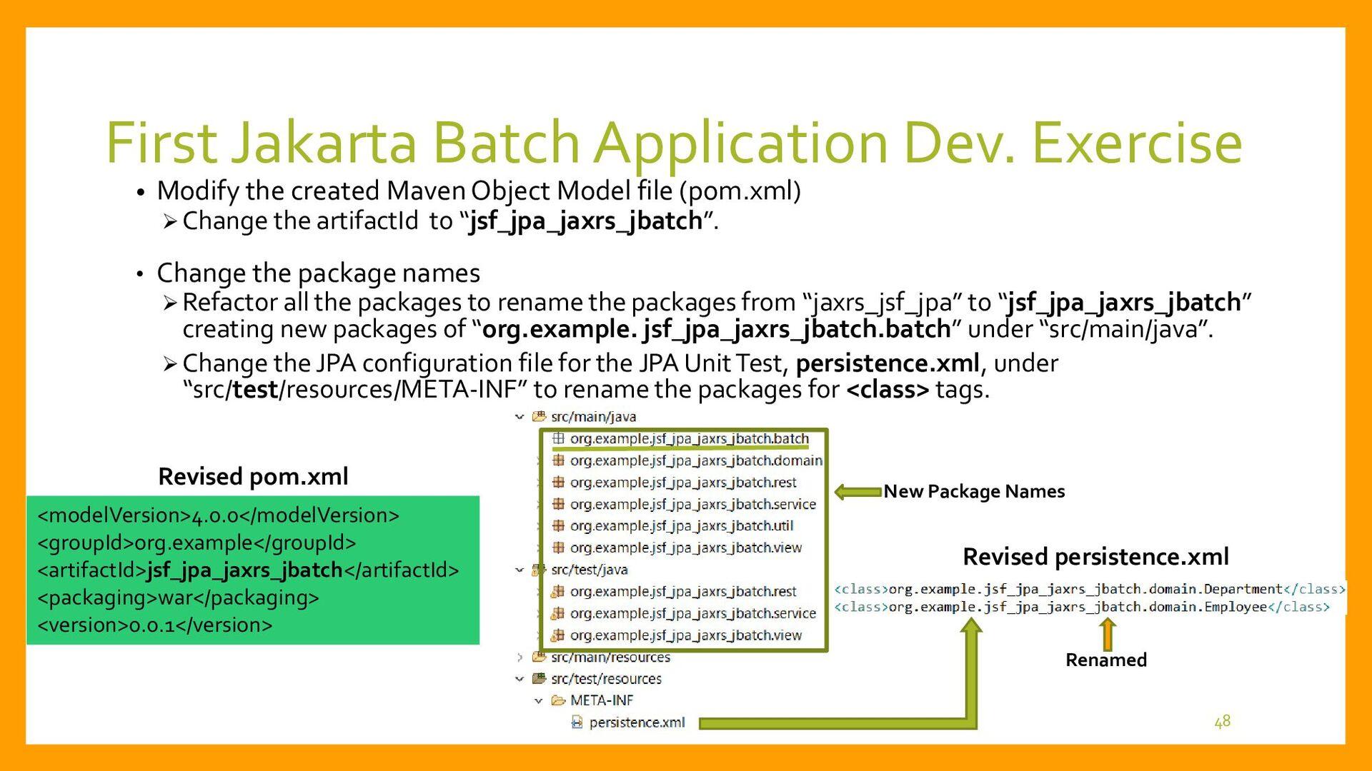 • Procedure of the Development Edit pom.xml and...