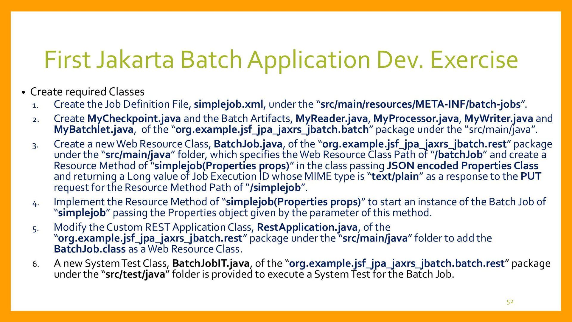 • BatchJobIT.java (1) – Preparation for System ...