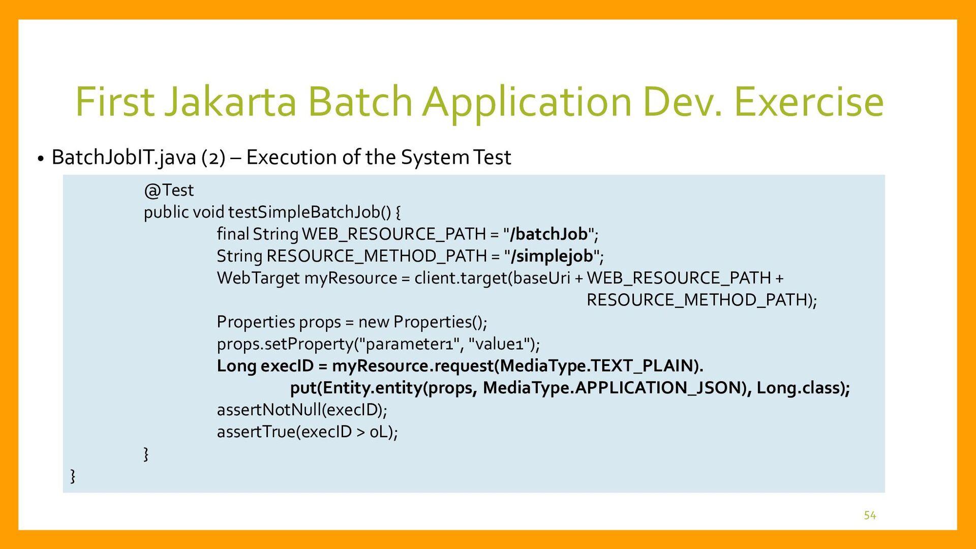 • Final Java Source Folder Structure 54 Provide...