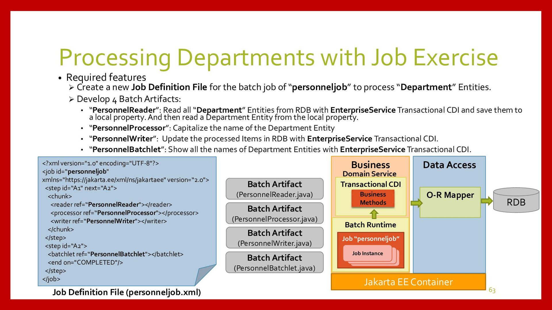 Exercise for Processing Departments with Job • ...