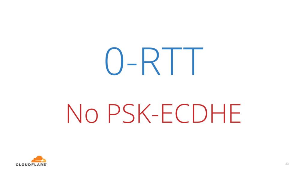 0-RTT 23 No PSK-ECDHE