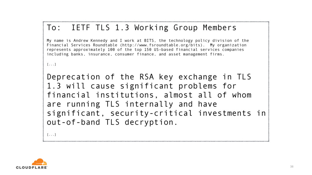 To: IETF TLS 1.3 Working Group Members My name ...