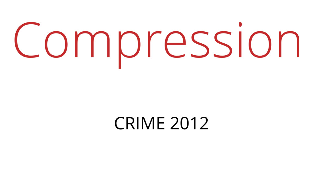 Compression CRIME 2012