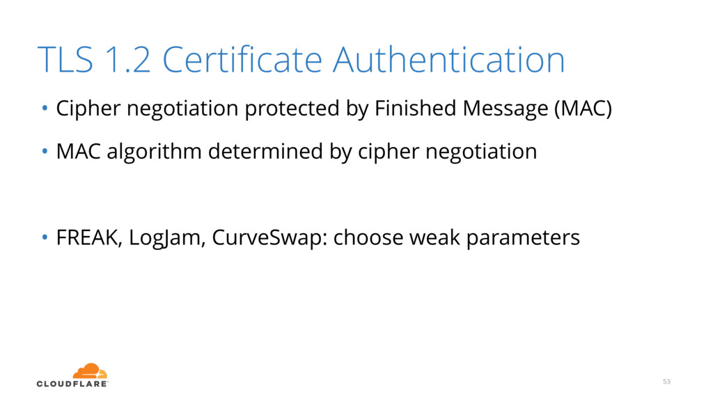 TLS 1.2 Certificate Authentication • Cipher nego...