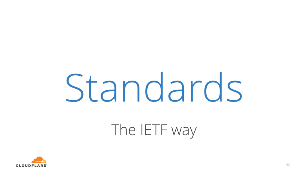 Standards The IETF way 63