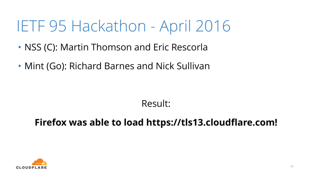 IETF 95 Hackathon - April 2016 • NSS (C): Marti...