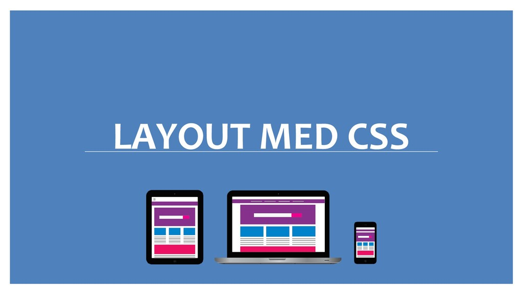 LAYOUT MED CSS