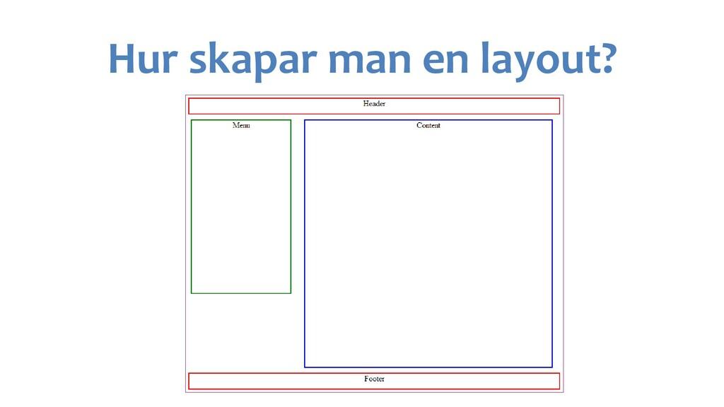Hur skapar man en layout?