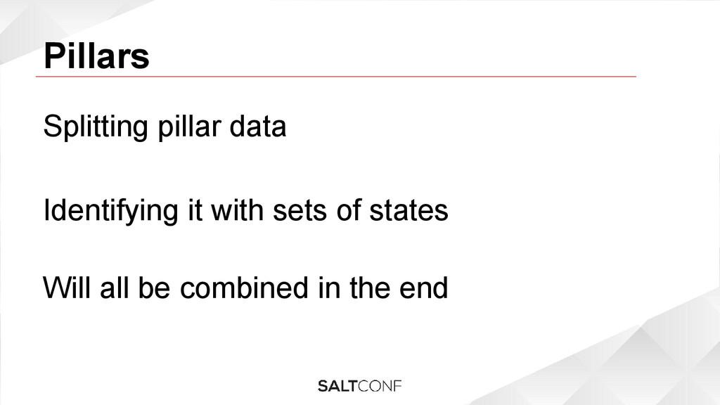 Pillars Splitting pillar data Identifying it wi...