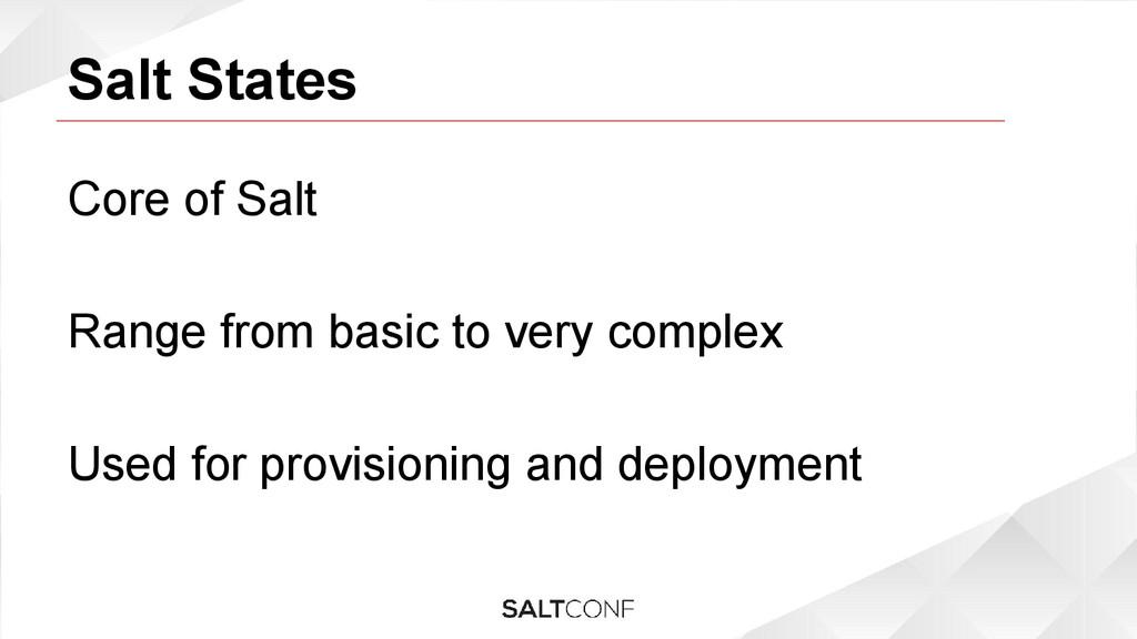 Salt States Core of Salt Range from basic to ve...