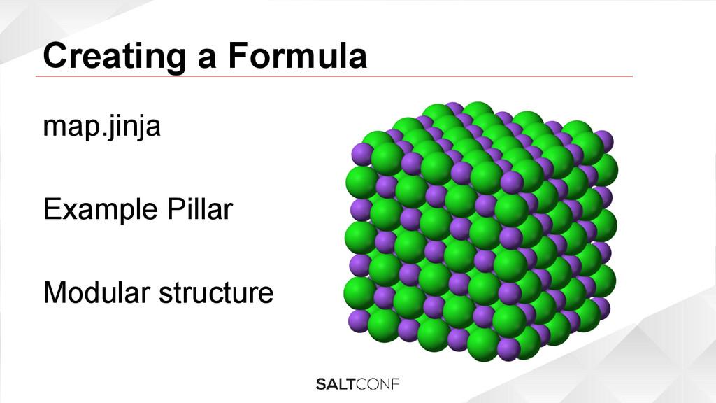 Creating a Formula map.jinja Example Pillar Mod...