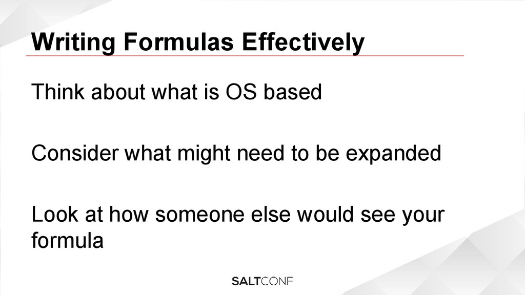 Writing Formulas Effectively Think about what i...