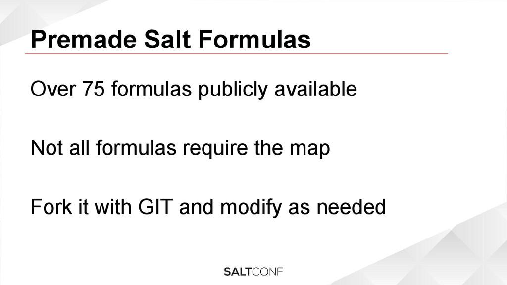 Premade Salt Formulas Over 75 formulas publicly...