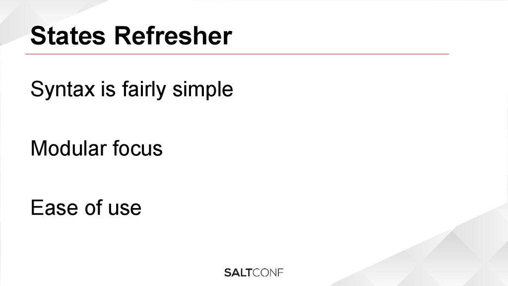 States Refresher Syntax is fairly simple Modula...