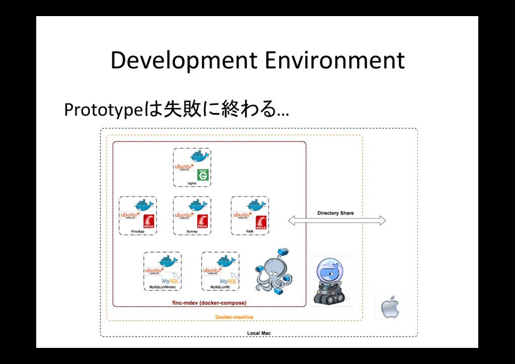 Development Environment Prototypeは失敗に終わる…