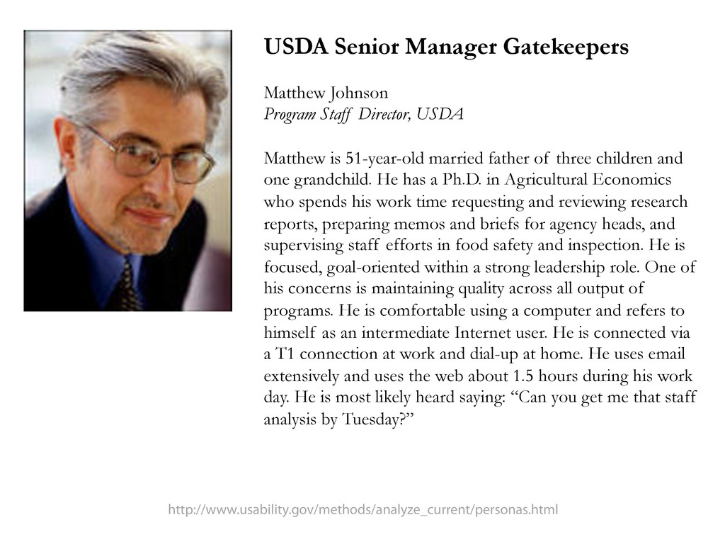 USDA Senior Manager Gatekeepers Matthew Johnson...