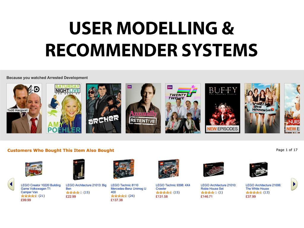 USER MODELLING & RECOMMENDER SYSTEMS